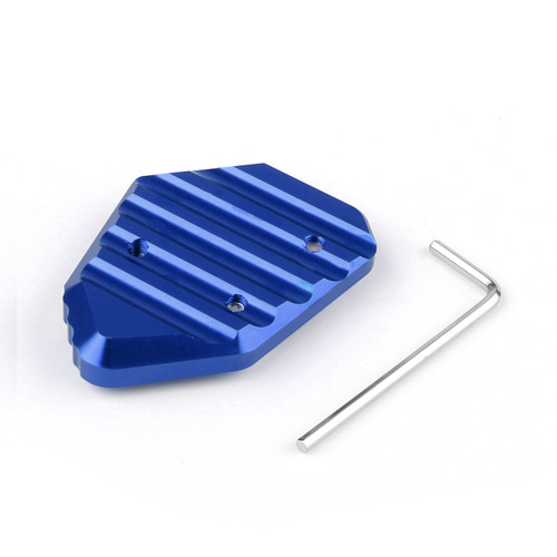 Kickstand Shoe Extension Plate Pad Side Stand BMW K1200S (05-08) K1200R (05-08) K1300S (09-14) K1300R (09-14) Blue