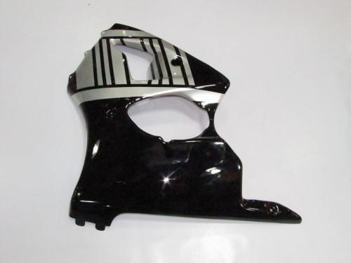 Fairings Plastics Kawasaki ZX6R 636 Black Silver Ninja Racing (2000-2002)