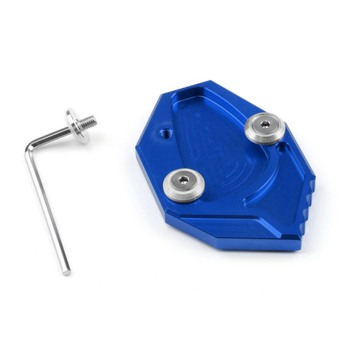 Kickstand Shoe Extension Plate Pad Side Stand Kawasaki ZX-14R ZZR1400 (07-14) GTR1400 CONCOURS 14 (08-14) Blue