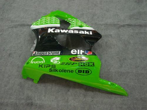 Fairings Plastics Kawasaki ZX6R 636 Green Nakano 56 Racing (2000-2002)