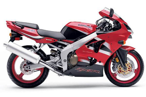 Fairings Plastics Kawasaki ZX6R 636 Red ZX6R Racing (2000-2002)