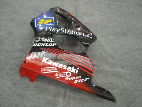 Fairings Plastics Kawasaki ZX6R 636 Red Black Play Station Racing (2000-2002)