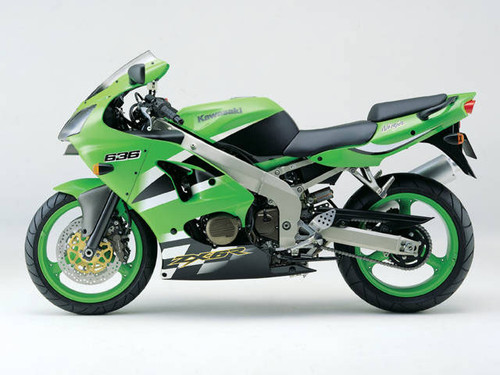 Fairings Plastics Kawasaki ZX6R 636 Green ZX6R Racing (2000-2002)