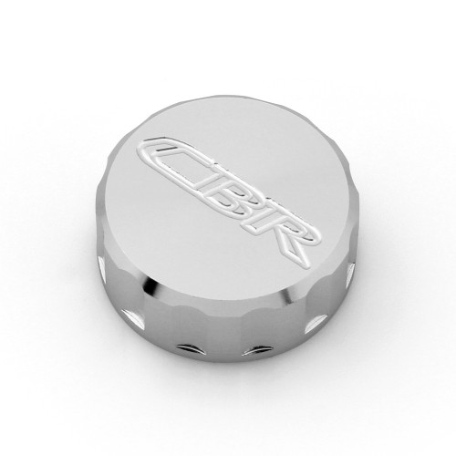 CNC Brake Fluid Reservoir Cap Honda CBR600RR CBR1000RR CBR900RR CBR929RR CBR954RR (All Year) Chrome