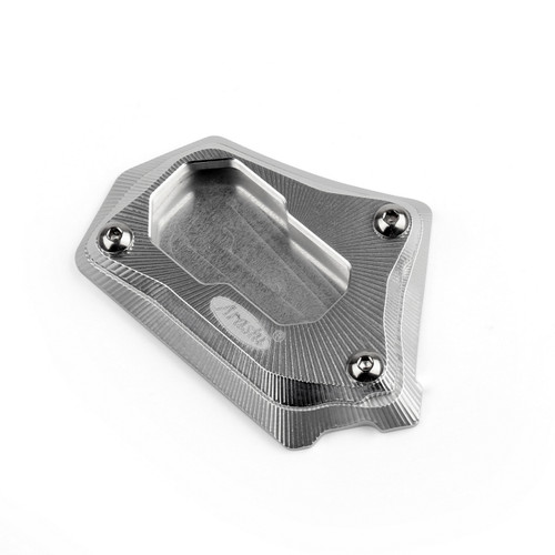 Kickstand Shoe Extension Plate Pad Side Stand BMW R1200GS R 1200 GS (2013-2014) Silver
