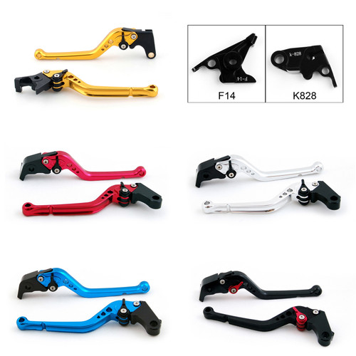 Standard Staff Length Adjustable Brake Clutch Levers Kawasaki ZX6R ZX636R ZX6RR 2000-2004