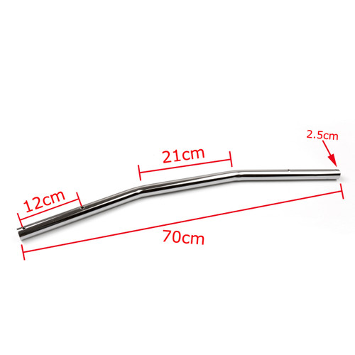 "1"" 25mm Handlebar Drag Bar Motorcycle Universal Harley Yamaha Suzuki Kawasaki VTX Shadow Chrome"