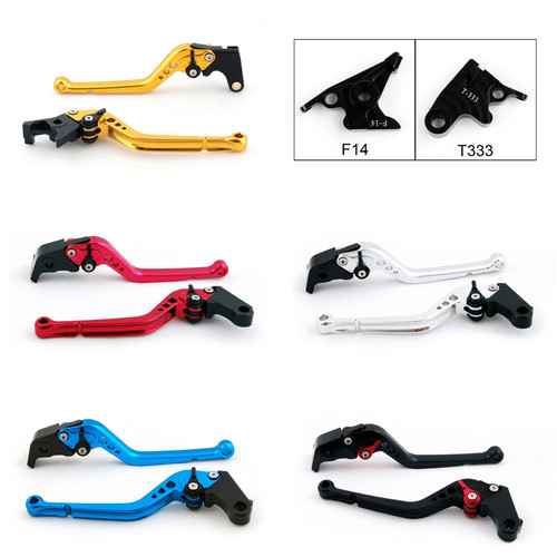 Standard Staff Length Adjustable Brake Clutch Levers Triumph 675 STREET TRIPLE 2008-2016 (F-14/T-333)