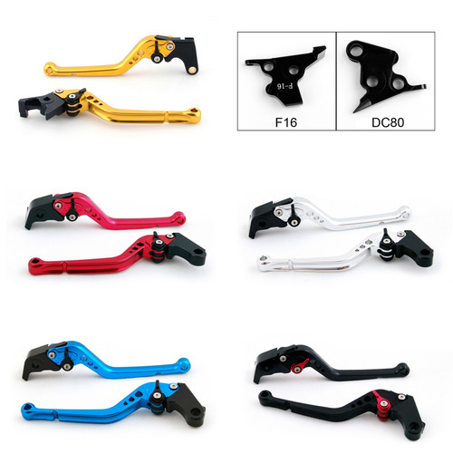 Standard Staff Length Adjustable Brake Clutch Levers Moto Guzzi BREVA 1100 2006-2012 (F-16/DC-80)