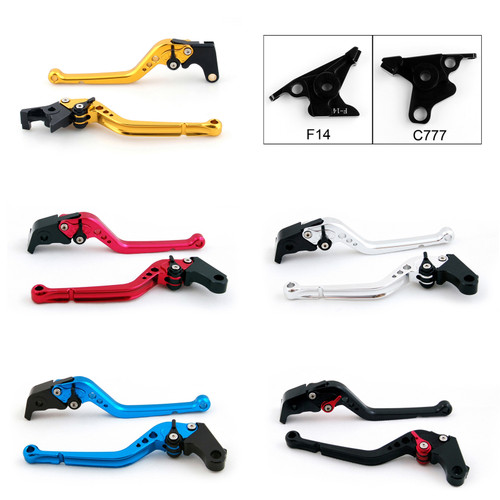 Standard Staff Length Adjustable Brake Clutch Levers Kawasaki ZZR1200 2002-2005 (F-14/C-777)