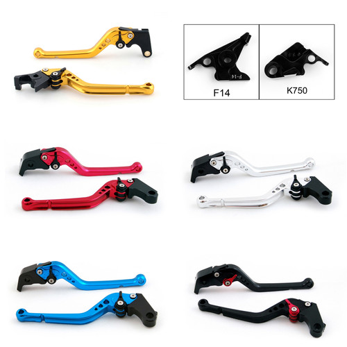 Standard Staff Length Adjustable Brake Clutch Levers Kawasaki Z750S (not Z750 model) 2006-2008 (F-14/K-750)