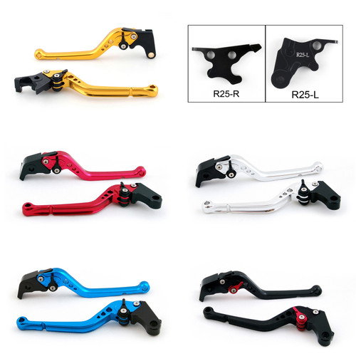 Standard Staff Length Adjustable Brake Clutch Levers Yamaha YZF R25 2014-2015