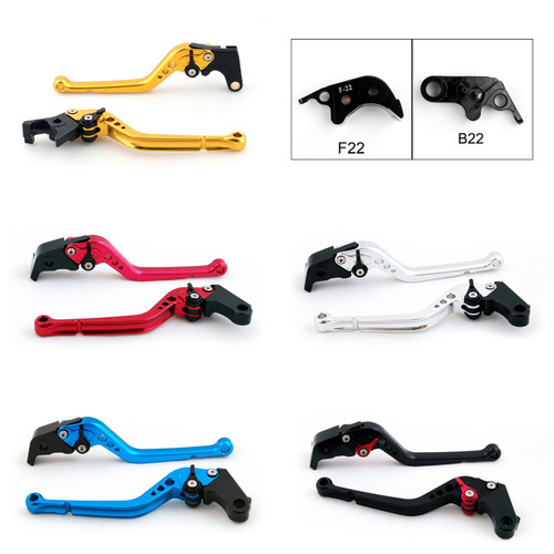 Standard Staff Length Adjustable Brake Clutch Levers BMW S1000RR (NOT Comp ver.) 2010-2014 (F-22/B-22)