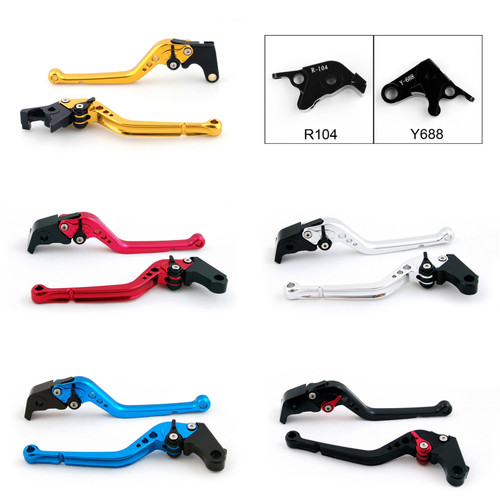 Standard Staff Length Adjustable Brake Clutch Levers Yamaha R6S EUROPE VERSION 2006-2007 (R-104/Y-688)