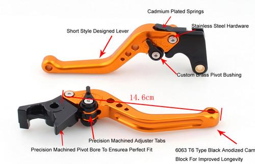 Shorty Adjustable Brake Clutch Levers Kawasaki VERSYS 1000 2012-2014
