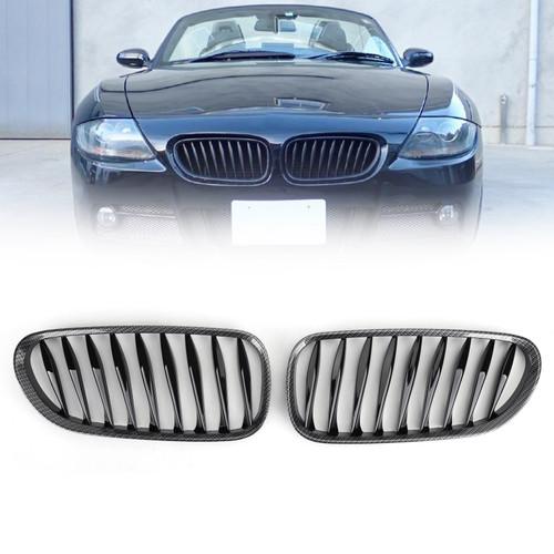 Sports Kidney Grille Grill BMW Z4 E85 E86 (2003-2008), Faux Carbon