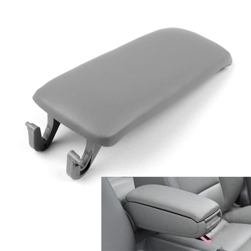 PU Leather Center Console Armrest Cover Lid Audi A4 B6 S4 A6 (2000-2005) Gray