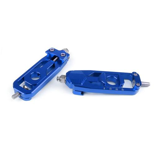 Aluminum Chain Adjusters Tensioners Catena YAMAHA MT-09 MT09 (2014-2015) Blue