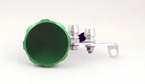 Universal Brake or Clutch Master Cylinder Oil Reservior (Green-Plain Cap)