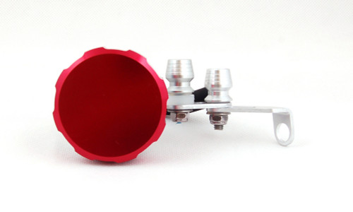 Universal Brake or Clutch Master Cylinder Oil Reservior (Red-Plain Cap)