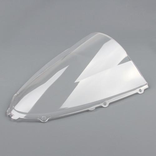 Windscreen Windshield Kawasaki ZX 14 R, ZZR 1400 (2006-2015), Double Bubble, Clear