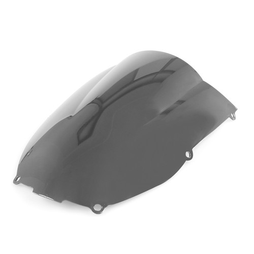 Windscreen Windshield Kawasaki Ninja ZX6 R 636 (2000-2002), Double Bubble, Chrome