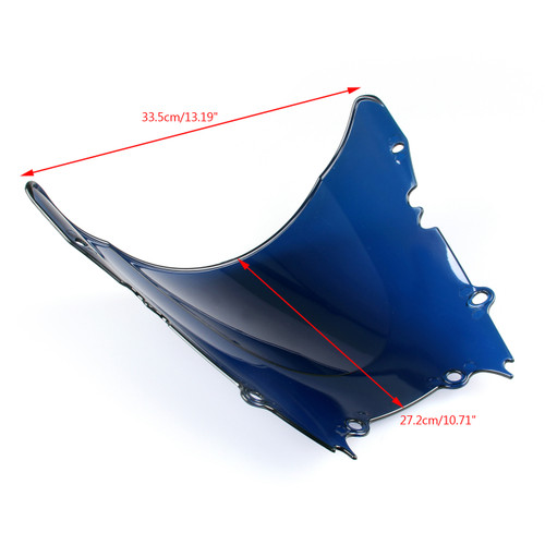 Windshield WindScreen Double Bubble Yamaha YZF R6 (1998-2002) Blue