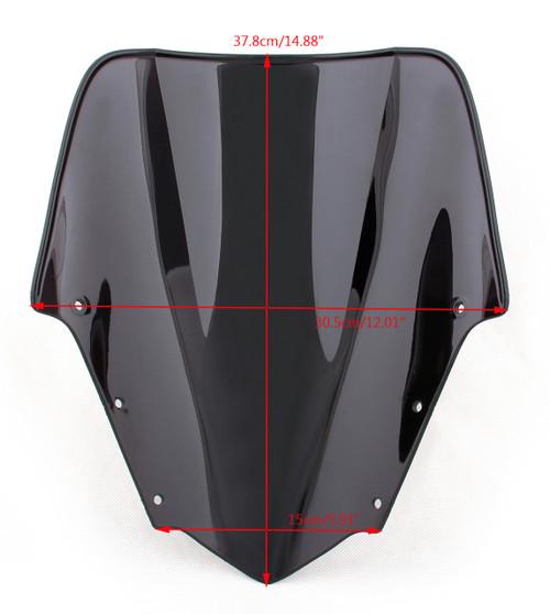 ABS Windshield WindScreen Double Bubble Fit For Yamaha FZ1 (2006-2015) Iridium