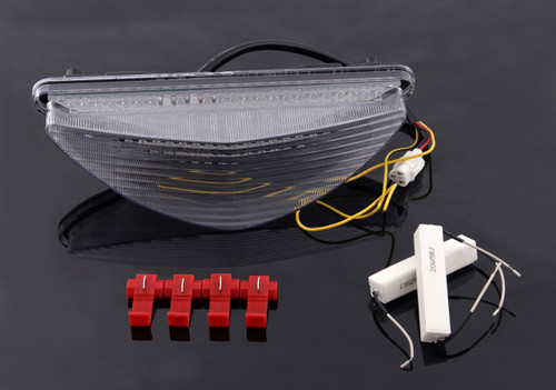 LED Taillight integrated Turn Signals For Yamaha Raider 2008-2010 Clear