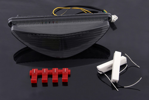 LED Taillight integrated Turn Signals For Yamaha Raider 2008-2010 Smoke