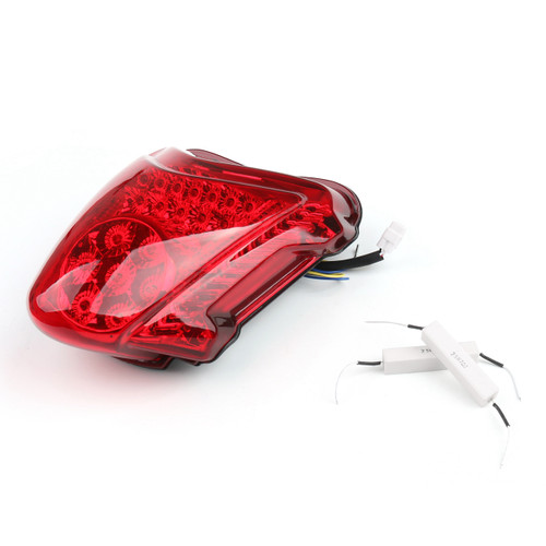 Integrated LED TailLight Turn Signals For Suzuki GSXR 1300 Hayabusa 2008-2014 Red