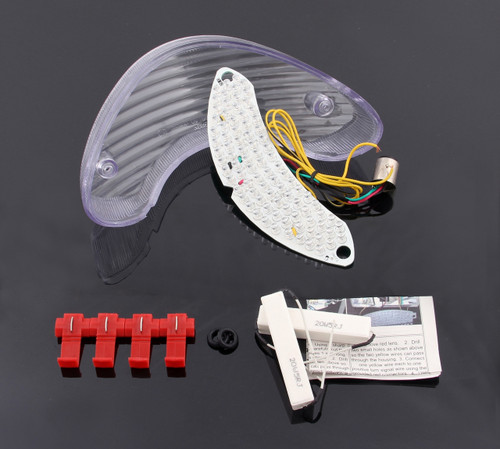 LED Taillight integrated Turn Signals For Suzuki SV650 1999-2003 TL1000S TL1000R Clear