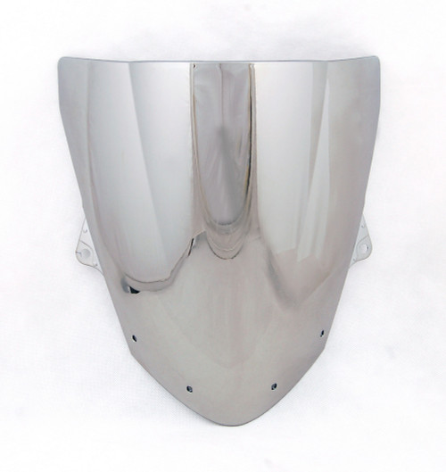 Windshield WindScreen Double Bubble For Kawasaki ZX6R 2009-2010 ZX10R 08-10 Chrome