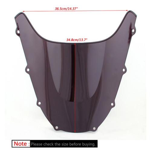 Windshield WindScreen Double Bubble For Kawasaki ZX9R ZX 9R 1998-1999, Black