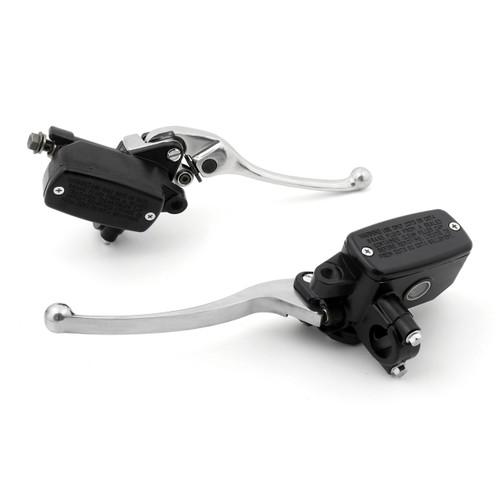 Levers Set Hydraulic Brake Hydraulic Clutch Master Cylinders Honda ST1300 (2002-2014) Chrome