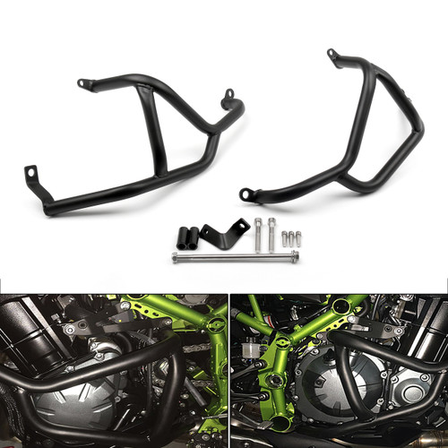 Engine Guards Set Frame Sliders Protector Crash Bars Kawasaki Z900 (2017), Black