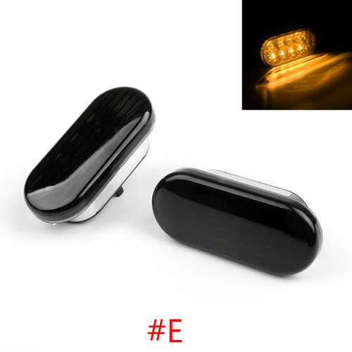 LED Side Marker Turn Signal Light VW Golf Jetta Passat (98-04), Black Yellow