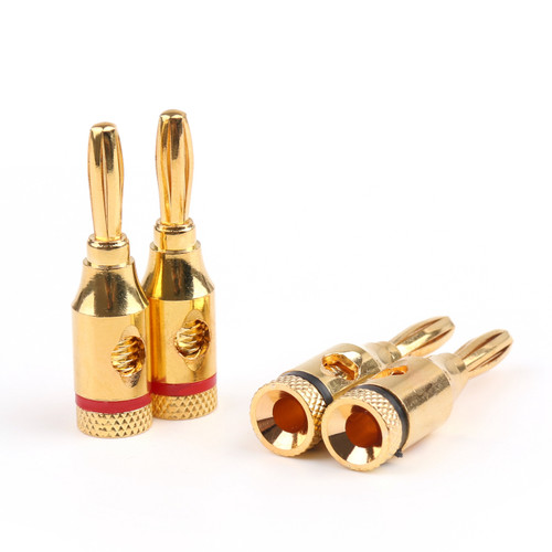 Mad Hornets 8PCS Cable Wire 4mm Gold Plated Banana Plug Connector Musical Audio Speaker