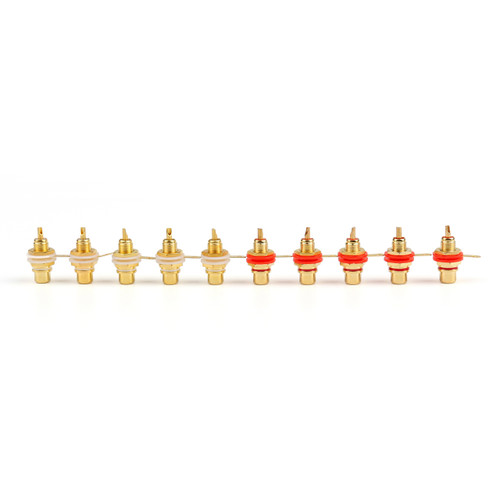Mad Hornets 10PCS Gold Plated RCA Jack Panel Mount Chassis Socket Connector