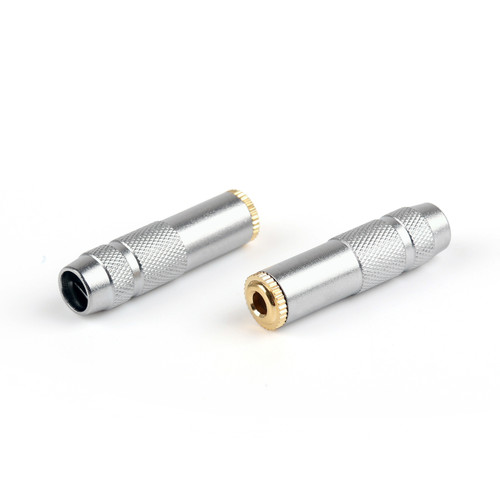 Mad Hornets 2PCS Copper 3.5mm Female Jack Stereo Audio Cable Connectors