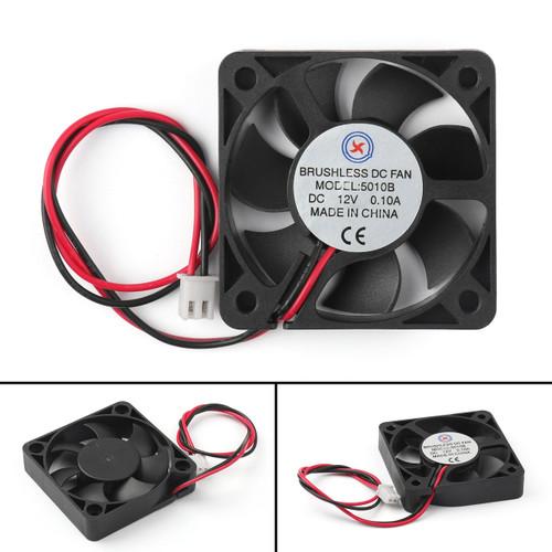 Mad Hornets 4PCs 50mm x 10mm 5010B DC 12V 0.1A 2 Pin Brushless Cooling Fan Ball Bearing