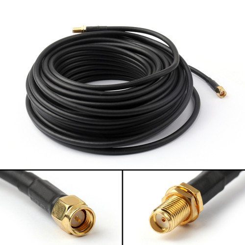 Mad Hornets 1PCS 15M SMA Male to SMA Female Jack Pigtail RG58 Cable Extension Router 49Ft US