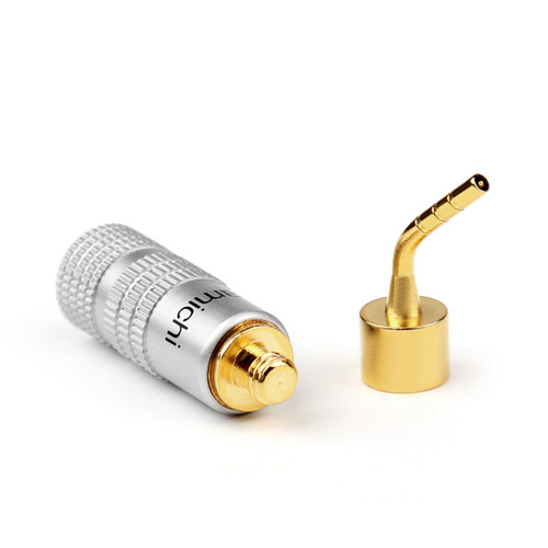Mad Hornets 1PCS 2mm Banana Pin Plug Gold Plated Aluminum Shell Audio Speaker Adapter Blk (I002-A1000-Blk-1PCS)