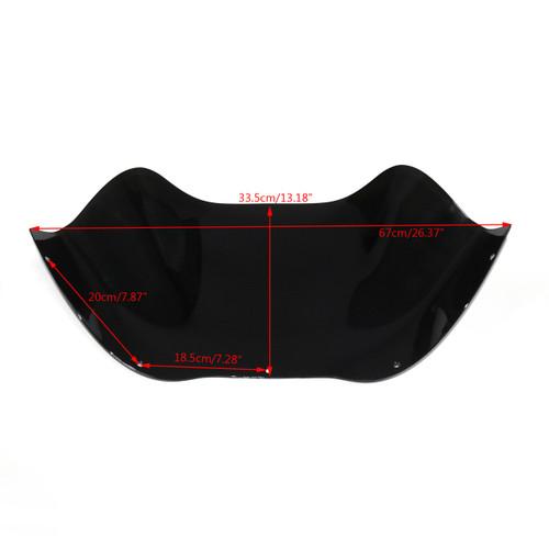 Windshield Windscreen 13 inch Fairing For Harley Road Glide FLTR (2008-2013) C