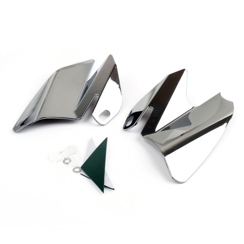 Seat Saddle Shield Heat Deflectors For Harley-Davidson Electra Glide Standard, Chrome (M201-001-Chrome)