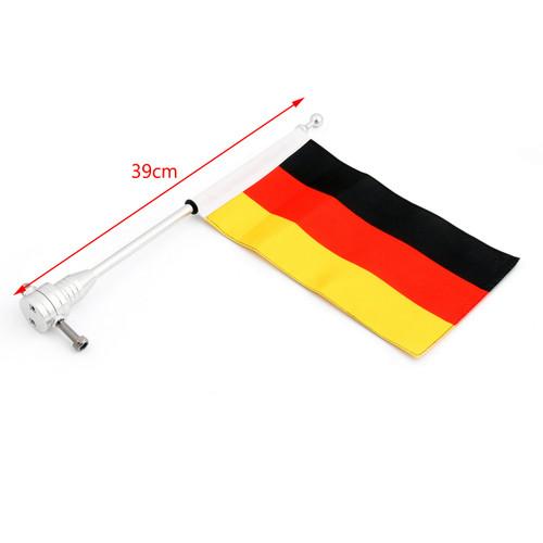Luggage Rack Germany Flag Vertical Flag Pole For Harley Softail Iron 883, Chrome