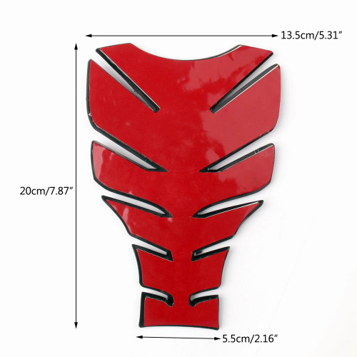 3D Rubber Tank Pad Moto Protector Gas, Red (Pad-B4-M-Red)