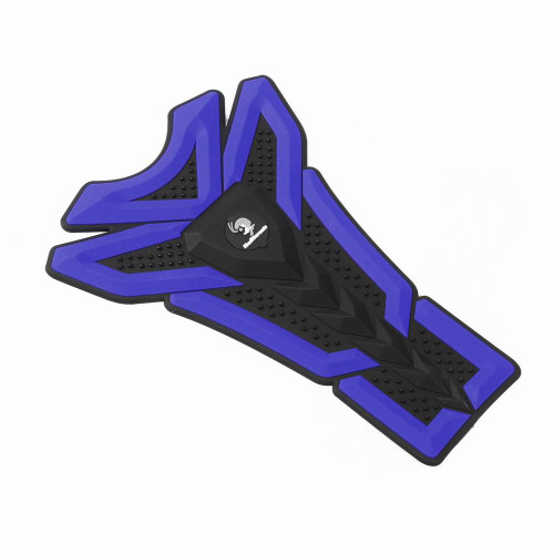 3D Oil Gas Fuel Tank Protector Sticker Decal For Suzuki Yamaha, Blue (Pad-043-M-Blue)
