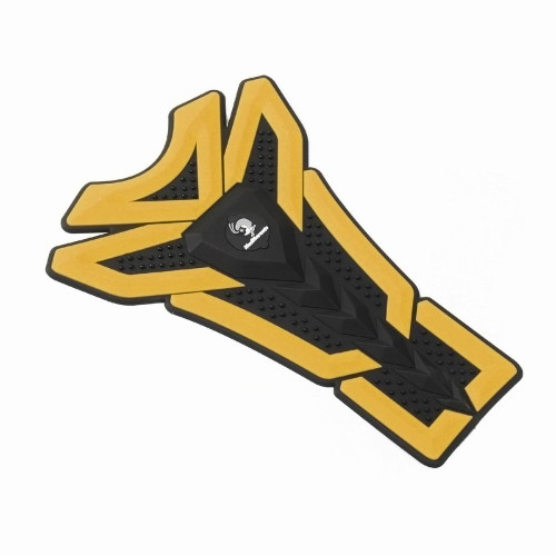 3D Oil Gas Fuel Tank Protector Sticker Decal For Suzuki Yamaha, Yellow (Pad-043-M-Yellow)