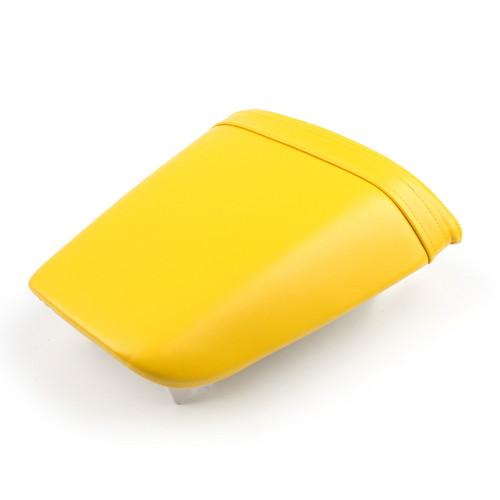 Passenger Rear Seat Leather Pillon For Honda CBR600 F4i (2001-2007) Yellow